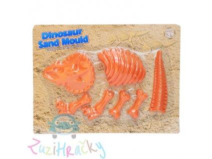 Jono Toys Formičky na piesok Dinosaurus 7 ks - oranžový