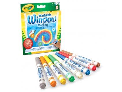 Crayola Fixky na okná 8 ks