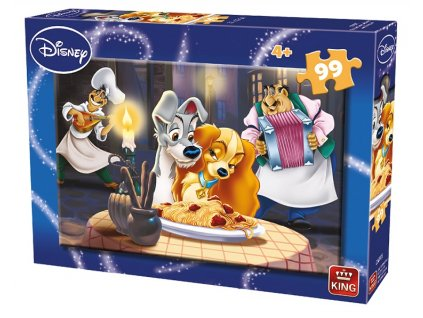 King puzzle Lady a Tramp 99 dielikov