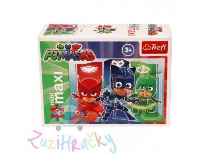 Trefl mini Maxi puzzle PJ Masks 21043 20 dielikov
