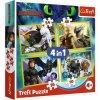 Trefl puzzle Ako vycvičiť draka 4v1 sada