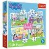 Trefl puzzle Peppa Pig sada 4v1 (12, 15, 20, 24 dielikov)
