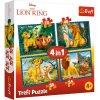 Trefl puzzle Leví Kráľ 4v1 sada