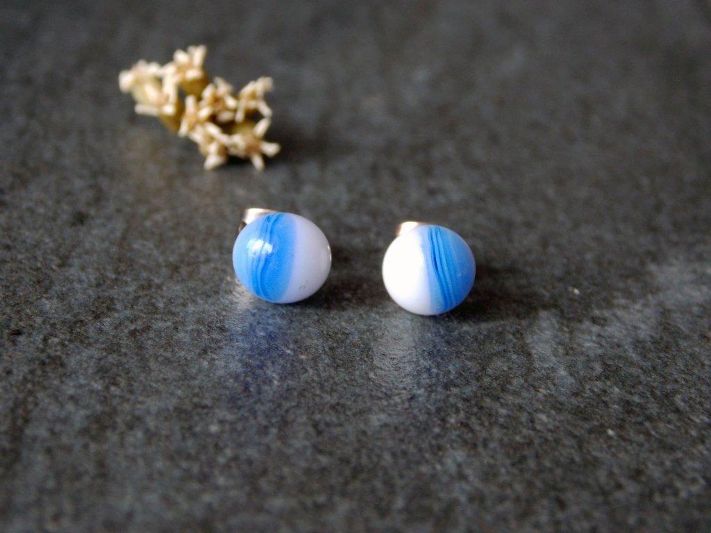 Puzetky  modrobílé