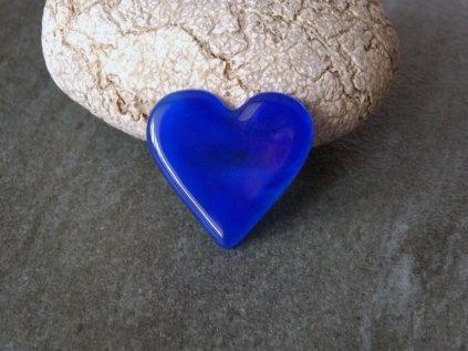 Brož Srdce modré