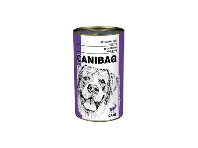 CANIBAQ Classic konzerva pes zvěřina 1250 g