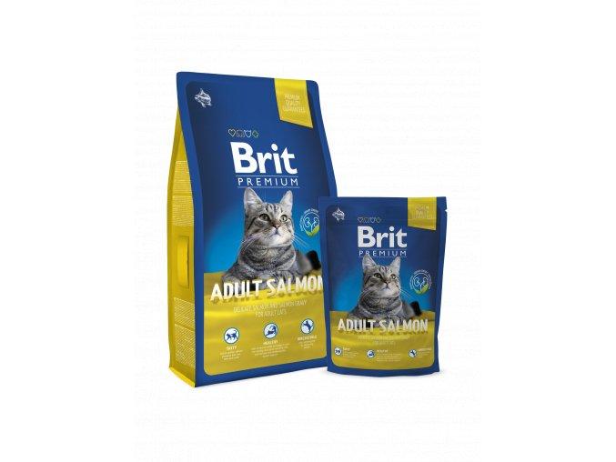 Brit premium cat losos 8 kg