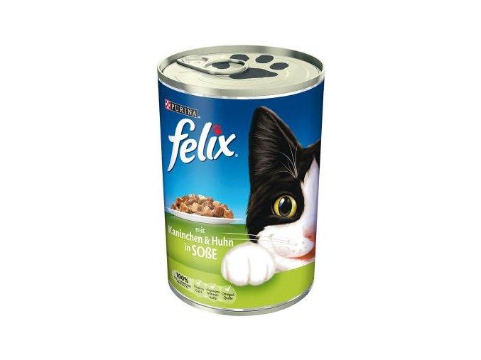 felix kuře a králík v omáčce