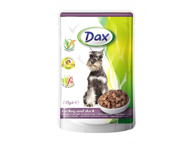 DAX dog 100g pouch turkey and duck jpg