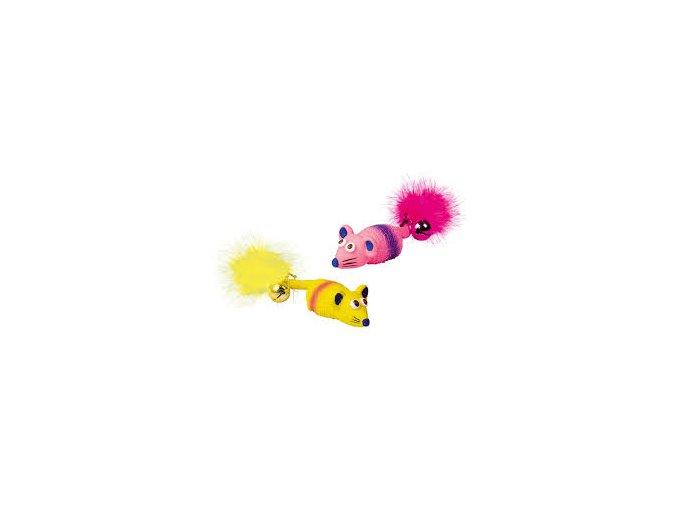Myš s rolničkou latex 11 cm
