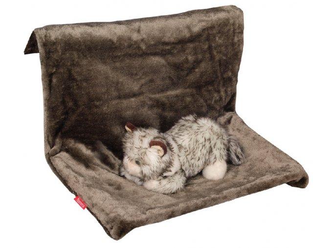 Lehátko pro kočky Leila mokka metalická