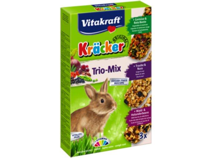 Kracker králík trio mix zelnina, ořech, lesní plody