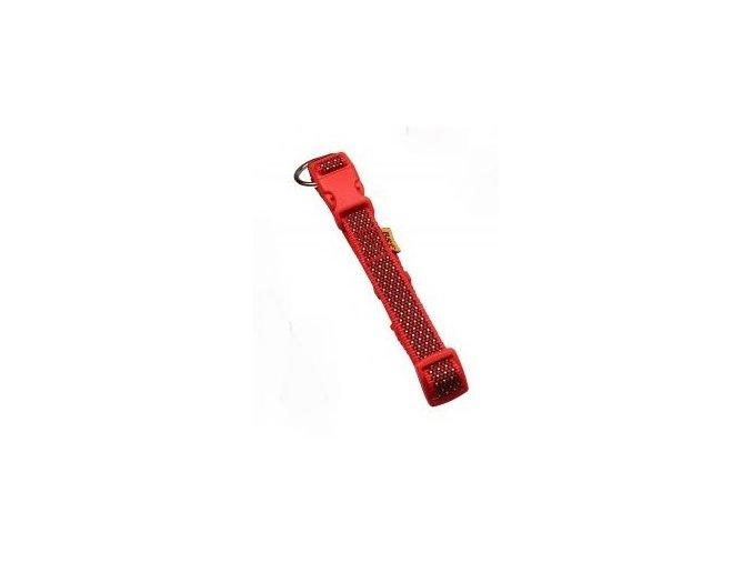 Obojek popruh 2,0x38 60cm žíhaný červený