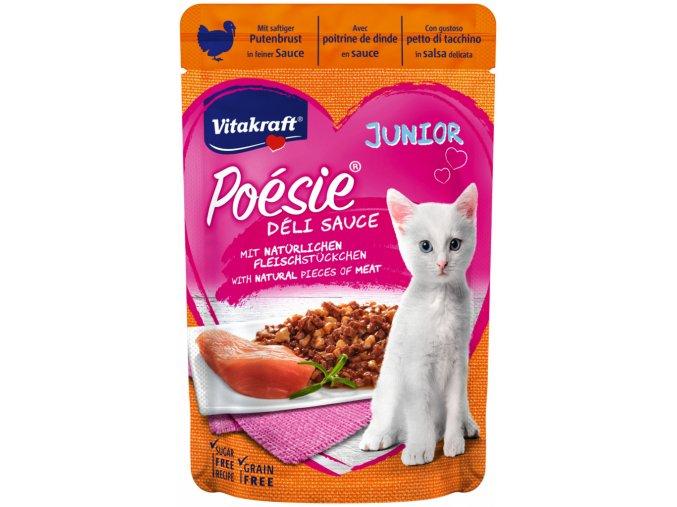 Vitakraft Cat Poésie Déli Sauce Junior kapsička Krůtí 85g