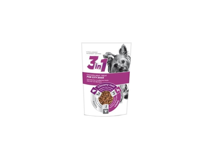 3in1 pochoutka Dog City kuřecí 100g