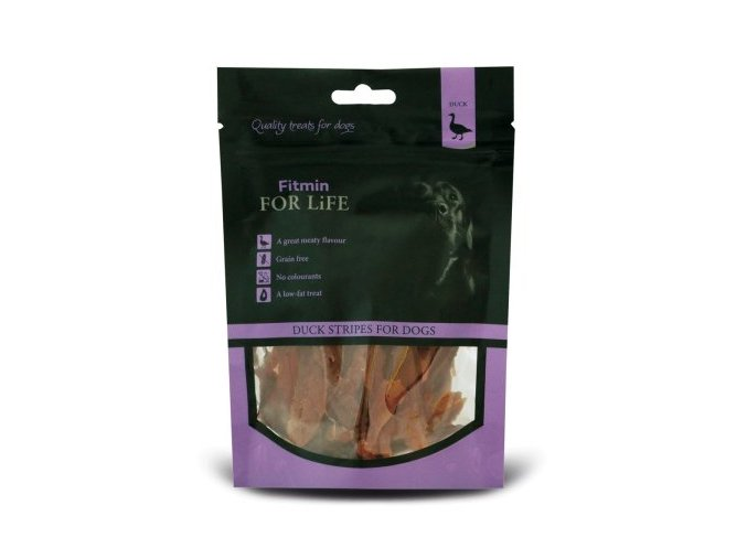 FFL dog treat duck stripes 70g