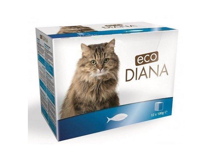 Eco Diana 100gx12ks kaps.cat rybí kousky v omáčce