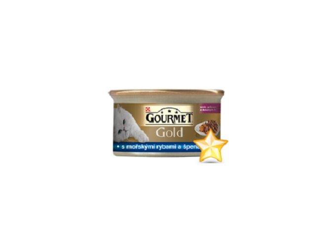 Gourmet kousky gold ryba se špenátem