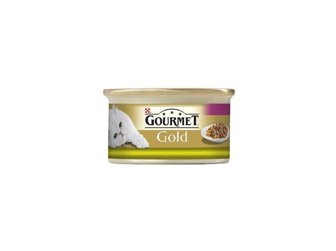 Gourmet kousky gold králík s játry