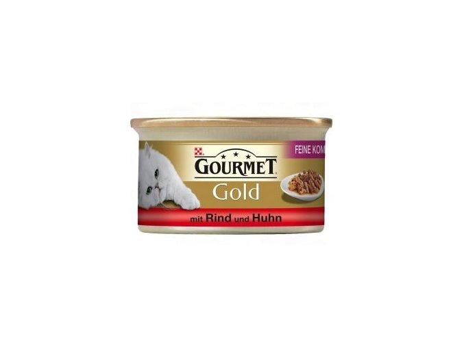 Gourmet kousky gold hovězí s kuřetem