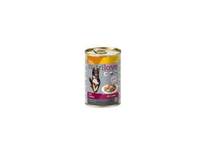 Nutrilove pes kousky, želé kuřecí, těstoviny 415g