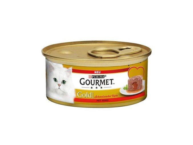Gourmet Gold hovězí s lahodnou náplní 85g