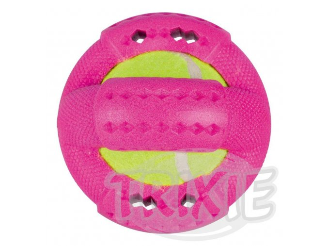 HRAČKA tvrdý kroužek s tenisákem