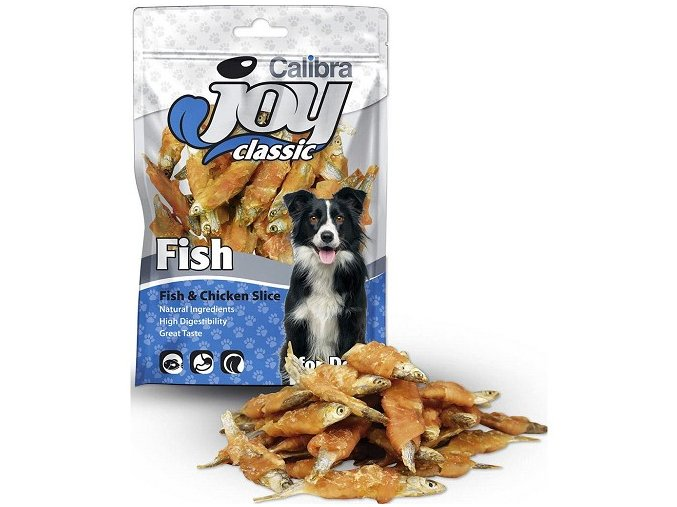 Calibra Joy Dog 80g Classic Fish+Chicken Slice