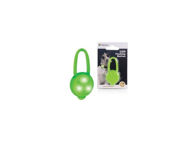 LED přívěsek na obojek silikonový, zelený