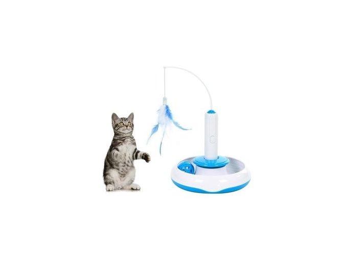 Interaktivní hračka 3v1 pro kočku udice