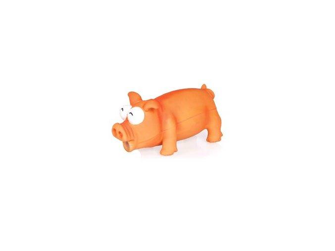 Prasátko oranžové, 19cm