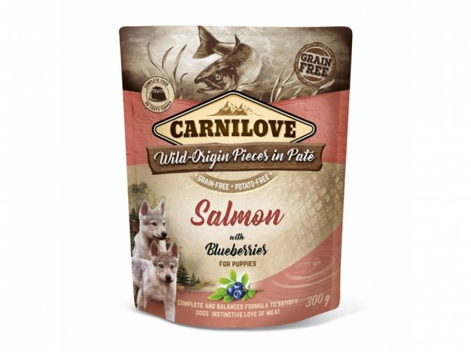 Carnilove Dog Pouch Paté Salmon with Blueberries for puppies 300g
