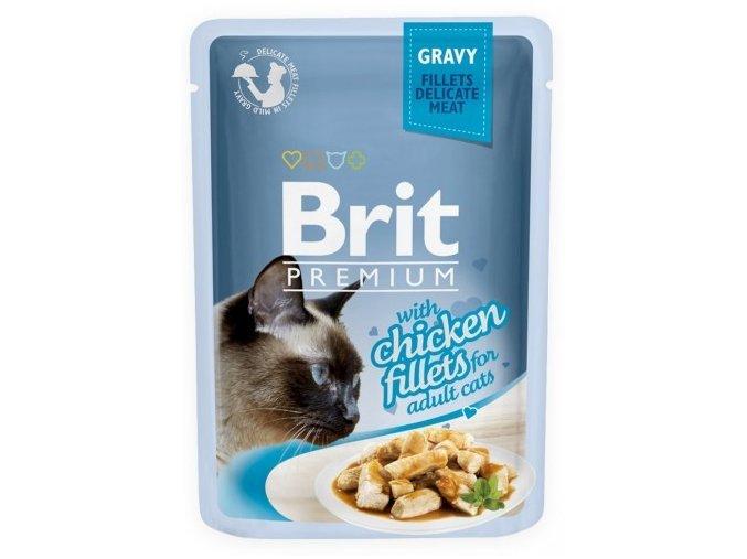 Brit premium chiken fillets 100g omáčka
