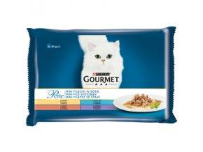 Gourmet Perle 4 x 85g mini filetky ve šťávě
