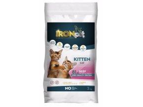 IRONpet Cat Kitten Beef 2 kg