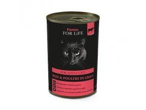 Fitmin For Life Hovězí konzerva pro dospělé kočky 415 g