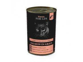Fitmin For Life Lososová konzerva pro kastrované kočky 415 g