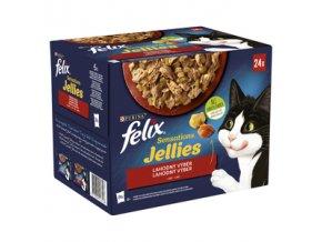 Felix Sensations Jellies 24 x 85g lahodný výběr Nový