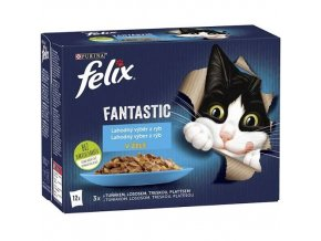 Felix fantastic 12 x 85g rybí výběr v želé