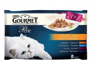 Gourmet Perle 85g 3+1 zdarma Mini filetky ve šťávě
