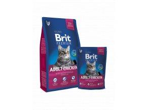 Brit premium cat kuře 8 kg