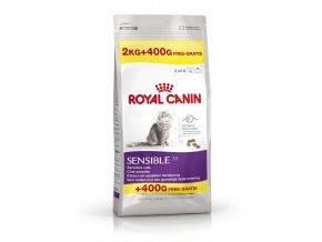 Royal Canin cat Sensible 2 kg + 400 g GRÁTIS