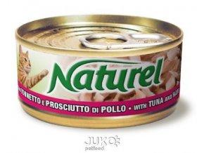 Naturel cat can Tuna with ham 70g