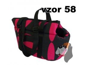 taska bavlna 30cm růžovo černá