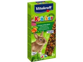 Kracker králík zelenina, červená řepa 2ks