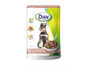 DAX dog 100g pouch beef and rabbit jpg
