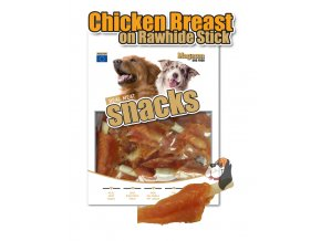 Magnum Chicken Breast on Rawhide Stick 250g