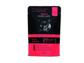 cat pouches adult beef 85g