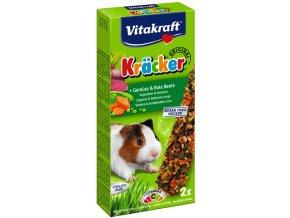 Kracker morče zelenina, červená řepa 2ks