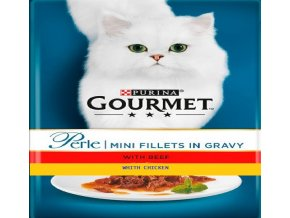 Gourmet Perle 4 x 85g Gravy Delight kuře a hovězí